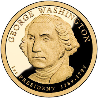 George Washington US Presidential One Dollar Coin