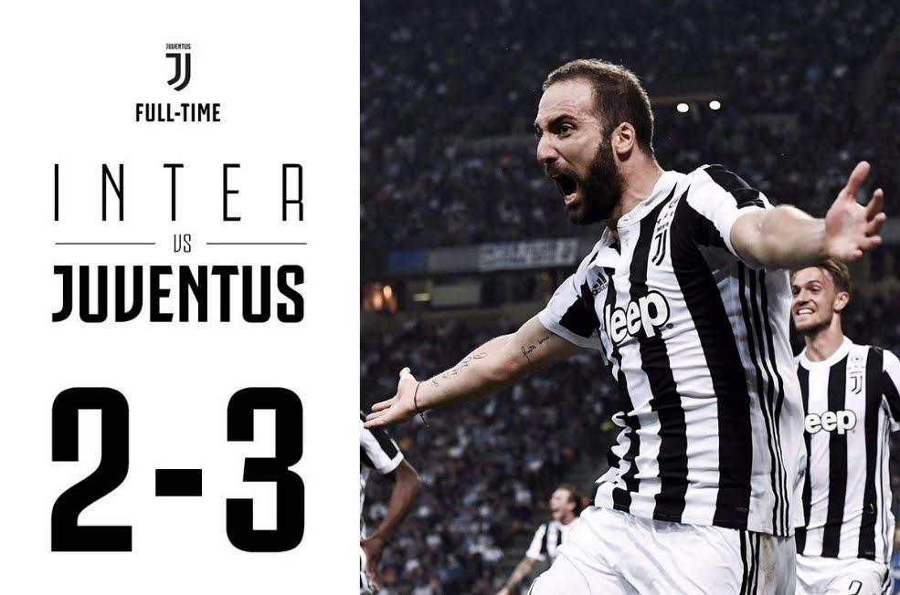 Inter Juventus da infarto grazie al cuore dei nerazzurri che cedono solamente nel finale: Higuain torna al gol, all'89'
