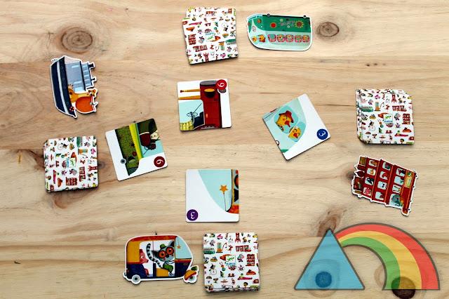 Inicio de la partida del juego Batapuzzle de Djeco