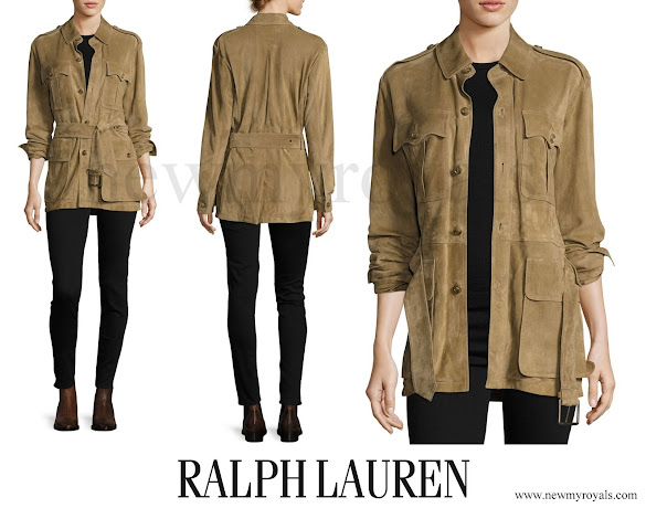 Princess Charlene wore Ralph Lauren Safari Jacket
