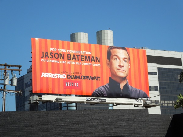 Jason Bateman Arrested Development Emmy 2013 billboard