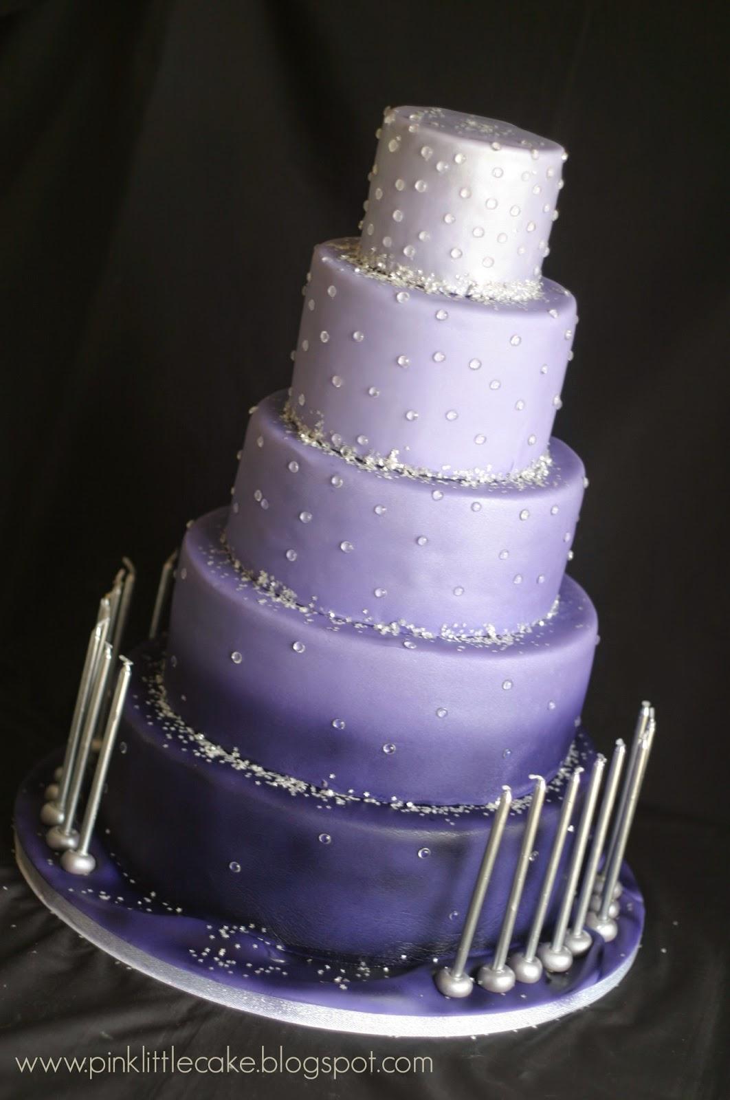 Pink Little Cake Sweet 16 Ombre Purple Birthday