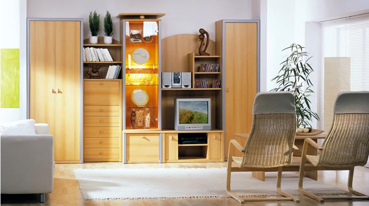 Мебель в зал стенки и горки фото