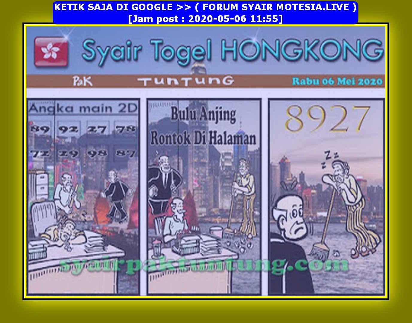 Kode syair Hongkong Rabu 6 Mei 2020 222