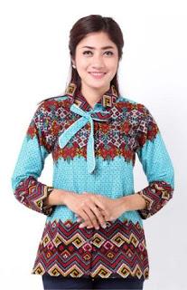 Model Seragam Guru Batik Etnik Wanita Modern