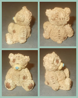 Brown Bears, Patched Teddy Bear Figurine, Patchwork Bear, Polyurethane Resin, PU Resin, Resin Bears, Resin Statuettes, Teddy Bears, Toy Bears, Clinton's Cards,