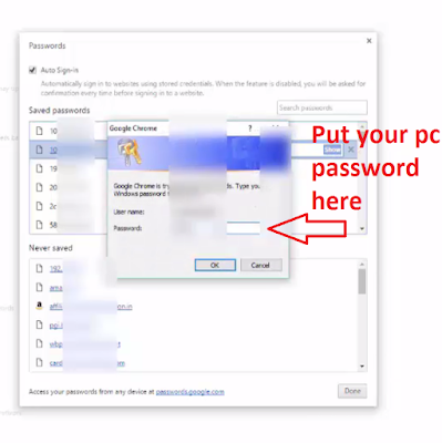 Steps to Find Saved Passwords on Chrome on PC