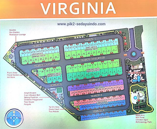 Siteplan Rumah PIK 2 Jakarta Cluster Virginia