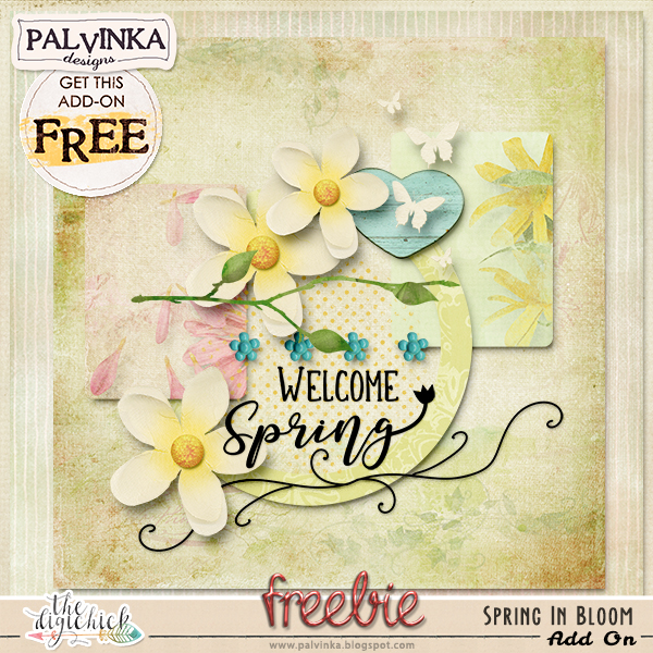 March Hatchery - Spring In Bloom Collection and Add On Freebie