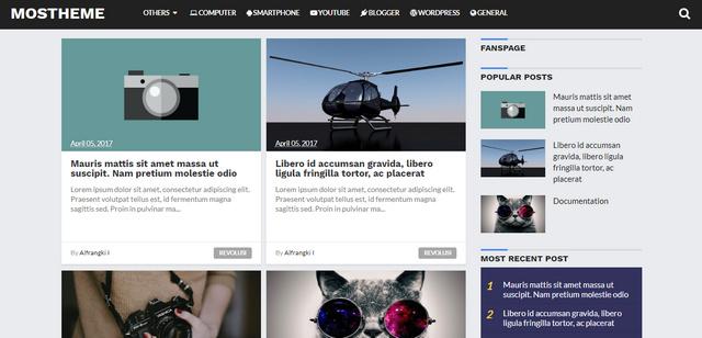 Mostheme Clean Responsive Blogger Templates