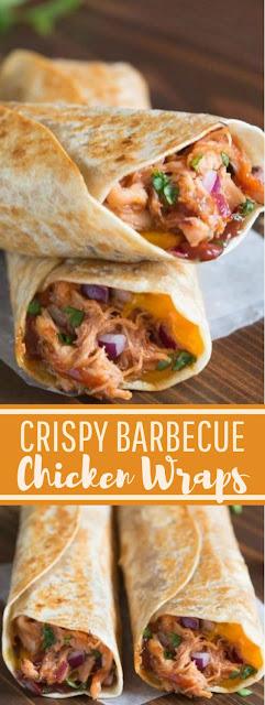 CRISPY BBQ CHICKEN WRAPS
