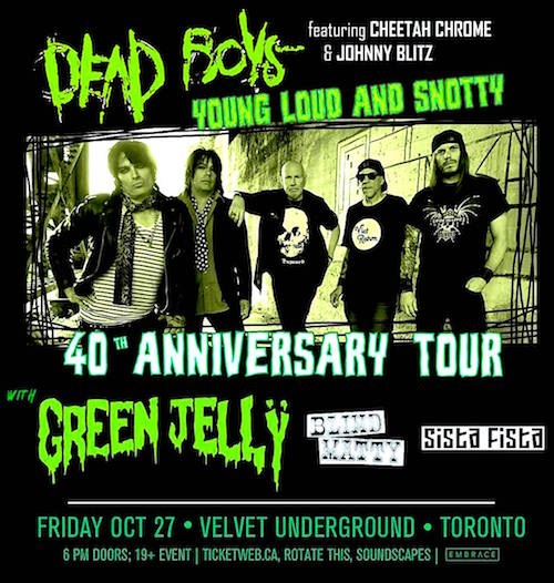 Dead Boys 40th Anniversary @ Velvet Underground, October 27