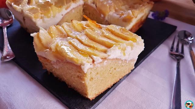 Tarta de manzanas y queso