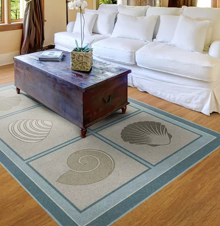 Sea Shells Area Rugs