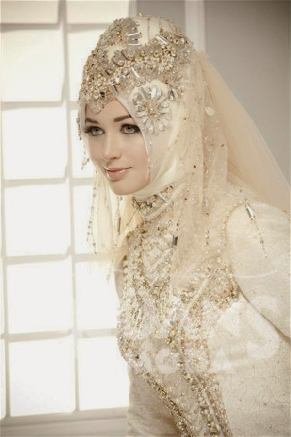 Muslim Wedding Dresses With Sleeves And Hijab