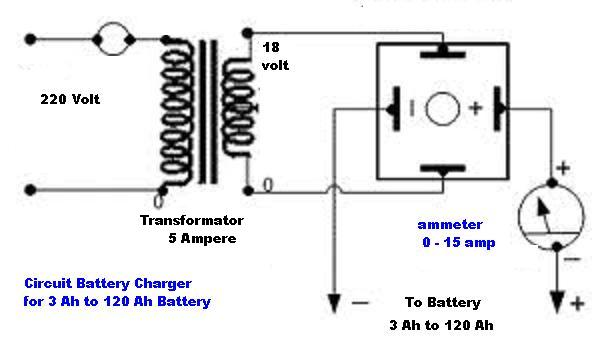 circuit diagram 12v car battery charger