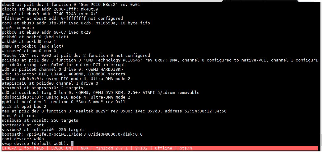 Supratim Sanyal's Blog: IInstalling OpenBSD SPARC 64-bit for Sun UltraSPARC using QEMU in SANYALnet Labs - Installation Screen #6