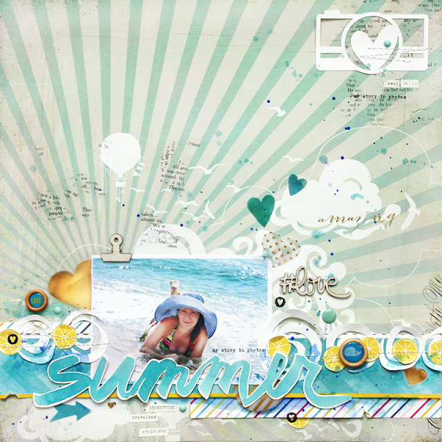 summer scrapbooking layout