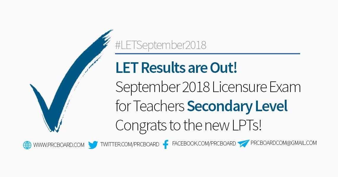 list of let passers september 2015 secondary level
