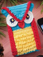 PATRON GRATIS FUNDA MOVIL BUHO DE CROCHET