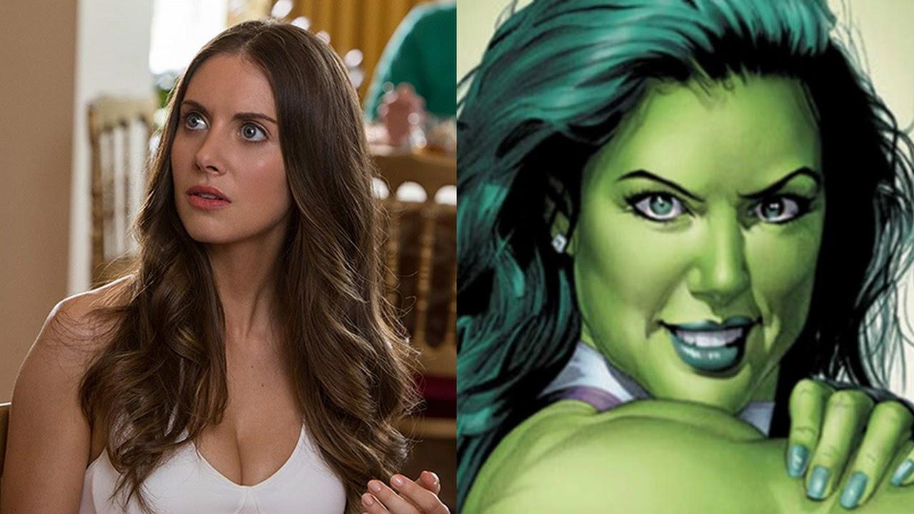Alison Brie é Mulher-Hulk em incrível arte da BossLogic