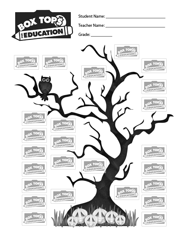 Declarative image inside printable box tops collection sheets