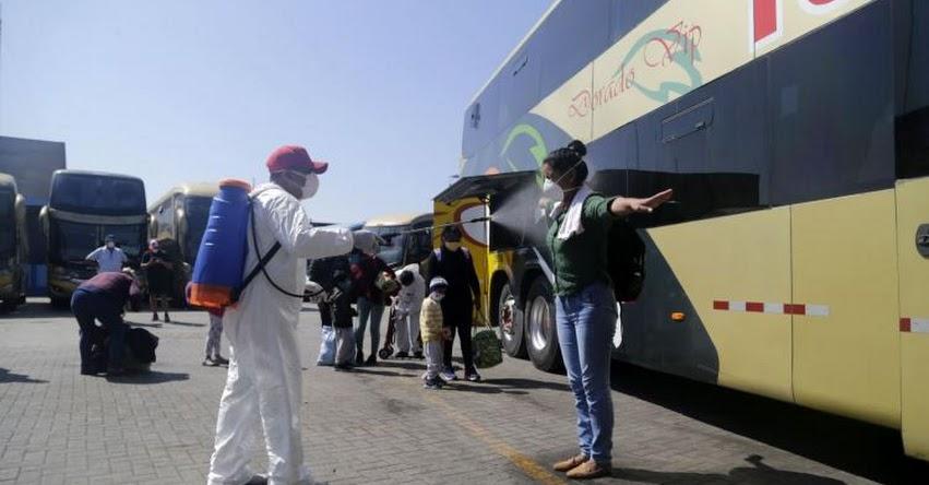 Ministerio de Transportes aprueba siete protocolos para transporte de pasajeros, carga y mercancías