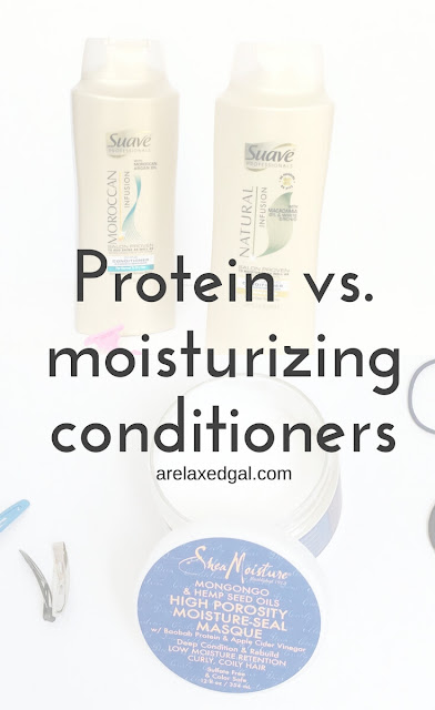 Protein Conditioners versus Moisturizing Conditioners | arelaxedgal.com