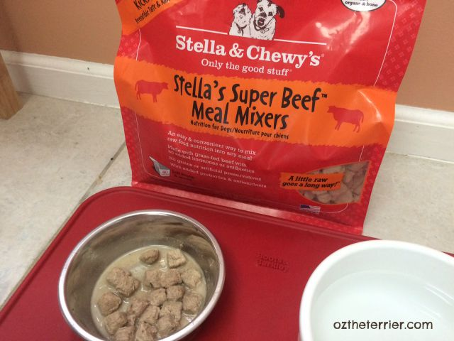 Stella and Chewy's Meal Mixers can be fed alone as a meal as well as mixed with kibble