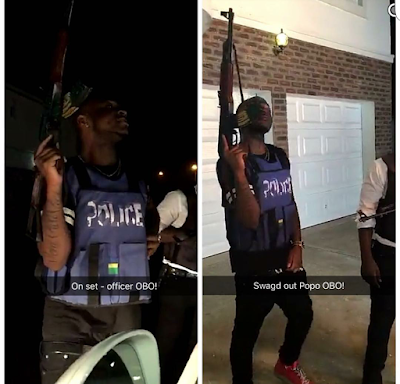 Davido clears the air on why he fired shots from his house (photos)