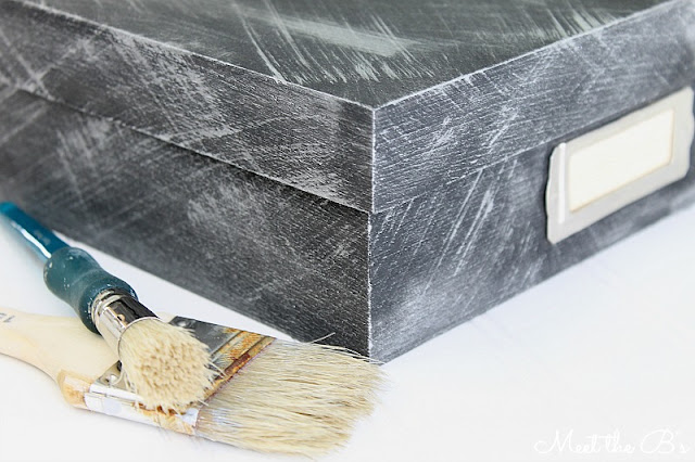 How to get a faux aged metal look with metallic craft paint #monthlydiychallenge