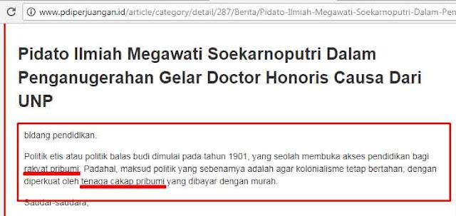 Anies Sebut Kata Pribumi Ahoker Marah, Megawati Sebut Kata Pribumi Kenapa Senang?