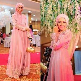 contoh baju kebaya pesta muslimah terkini