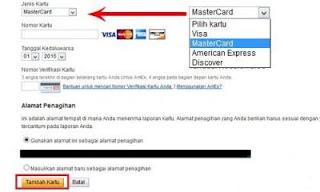 masukan informasi kartu k Cara mudah Verifikasi akun Paypal dengan VCC tanpa Kartu Kredit