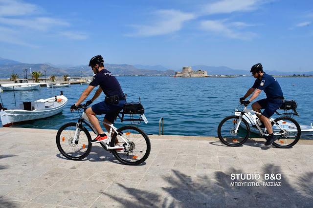 Θετικά τα σχόλια για την αστυνόμευση με χρήση ποδηλάτων στο Ναύπλιο