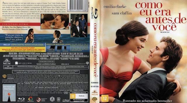 Capa Blu-Ray Como Eu Era Antes de Você