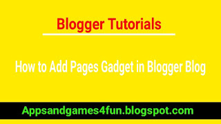 how-to-add-pages-gadget-in-blogger