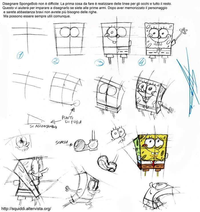 Ceciefave impariamo a disegnare for Spongebob da disegnare