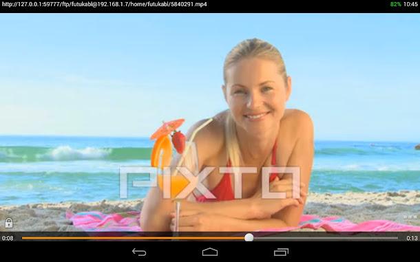 PC-BSD 10.0に保存してある動画ファイルをNexus 7 2013で再生してみた。