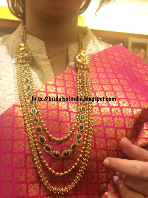 Fashion World Temple Jewellery With Peacock Mugappu And