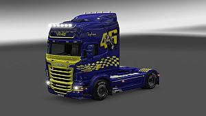 Valentino Rossi Skin for Scania RJL
