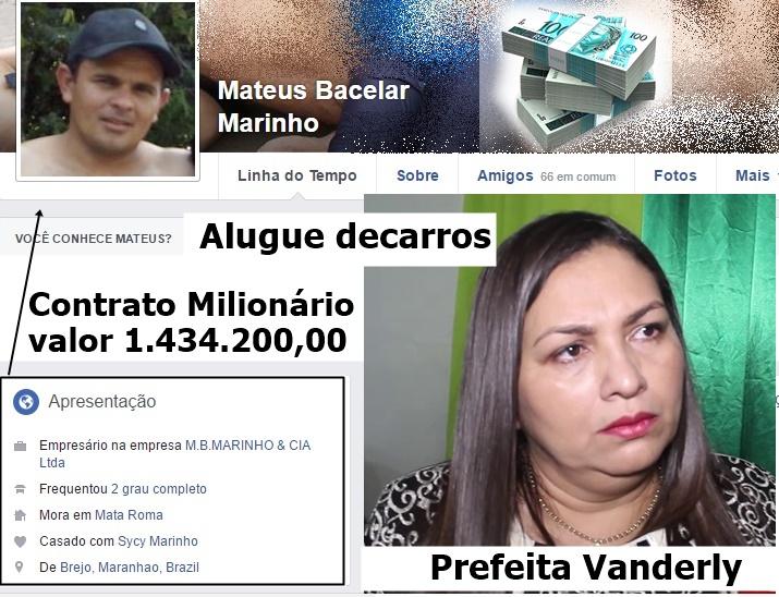 Bomba: Empresa de Mata Roma vai faturar mais de 1 milhão de reais com aluguel de veículo na prefeitura de Anapurus.