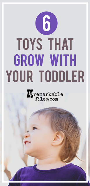 6 kid-tested toddler toys that won't sit collecting dust. They grow with kids to preschool and beyond!  {posted @ Unremarkable Files}