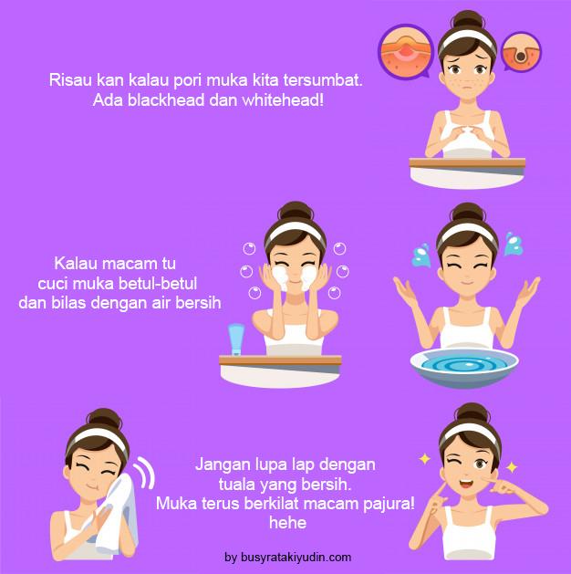 skincare, cara penjagaan muka, tips menjaga muka waktu malam, pencuci muka, krim, primer water,