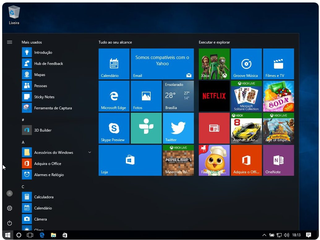 Windows 10 pro atualiza o de anivers rio 32 64 bits pt br for Window 10 pro