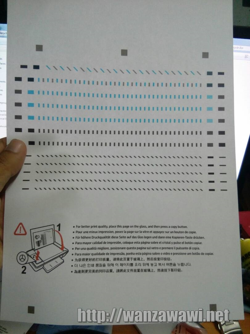 hasil test print
