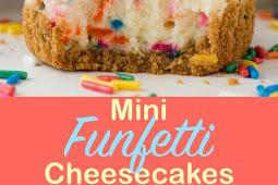 Mini Funfetti Cheesecakes