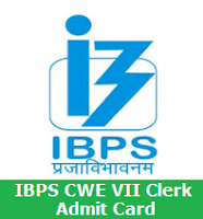 IBPS CWE VII Clerk Admit Card