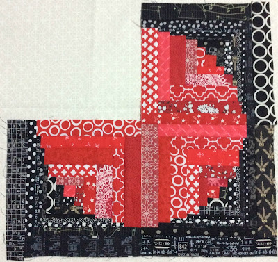 red and black Bubbles Bee block