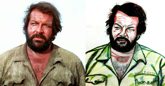 PENCIL DRAWING - BUD SPENCER
